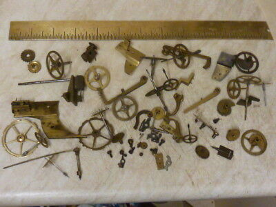 Useful Lot Antique French  Movement Parts - Spares (Fr)