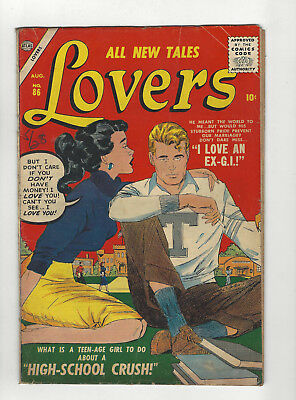 ALL NEW TALES LOVERS #86 ATLAS  1957 Romance SILVER AGE Comic