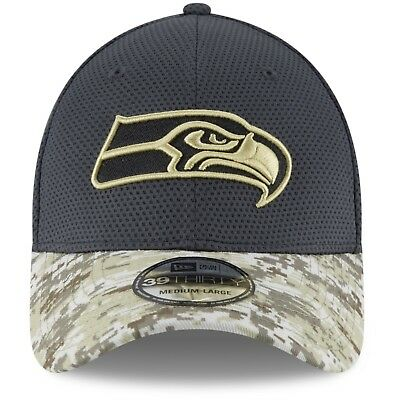 01653d28e 2016 L XL Seattle Seahawks New Era 39THIRTY Salute To Service Field Cap Hat