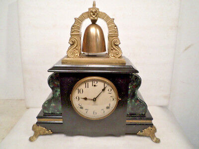 1890 Gilbert 'Curfew' Model Mantle Clock With Brass Bell On Top