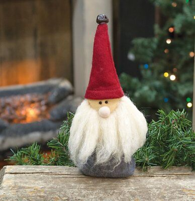 "Blue Jeans Santa Gnome 9"" Tall Country Christmas Holiday Shelf Sitter Decor"