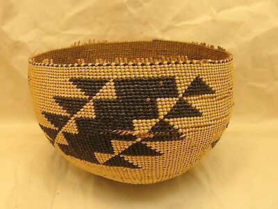 Early 1900s Hupa Indian Basket with Beautiful Design