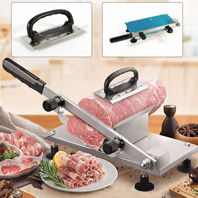 NEW Manual Frozen Meat Slicer Beef Chicken Slicing Cutter Adjustable 0.5mm-25mm