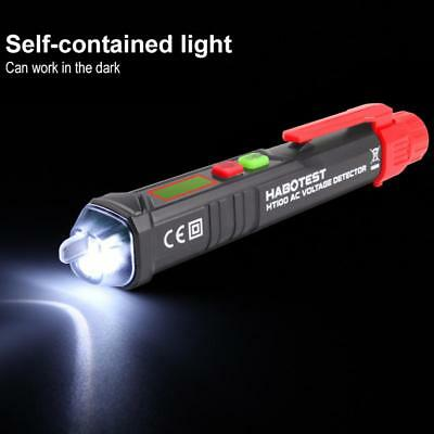 HT100 Non-Contact LCD Electric Test Pen Voltage Digital Detector AC 12~1000V