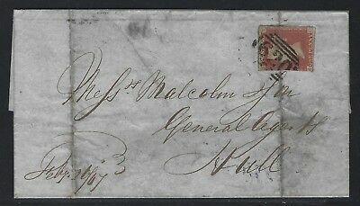 1867 Great Britain Scott #3 on Cover – Plymouth to Hull