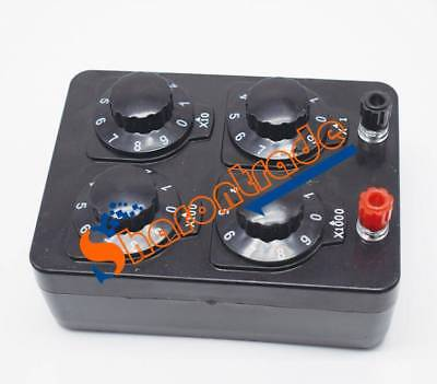 PRECISION VARIABLE/ DECADE RESISTOR RESISTANCE BOX 0-9999 ohm NEW
