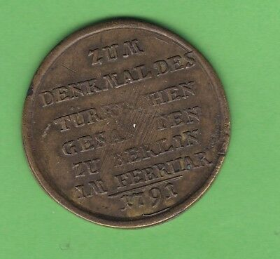 Germany/Turkey/ottoman medal visit of Asmi Achmet to Berlin 1791