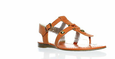 c27cc14c34e New Franco Sarto Womens Geyser Lily Orange T-Strap Sandals Size 6