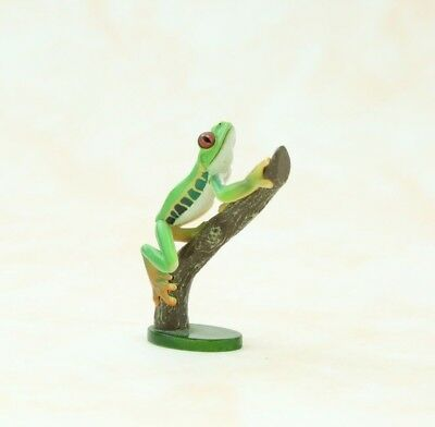 "Yujin Red Eyed Leaf Frog Figure  Authentic 2"" Takara Japan C2605"