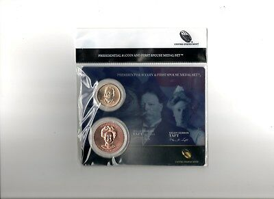 2013  William Taft Presidential 1 $ & First Spouse Medal Set  !