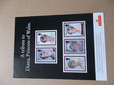Royal Mail A4 Post Office Poster Tribute To Diana Princess Of Wales