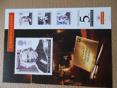 Royal Mail A4 Post Office Poster 1995 Communications Rowland Hill Marconi