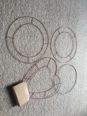 Wire Circles And Heart To Use As Craft Bases