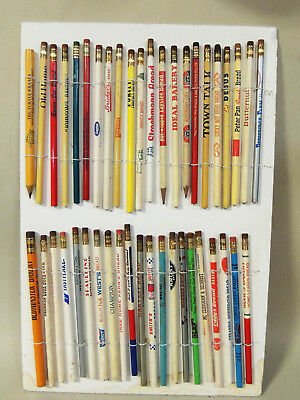 43 Wood PENCILS All Advertising BREAD & Bakery Antique vtg 1930s-1980s Lot 2of2