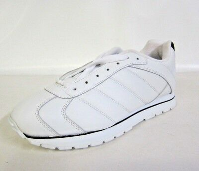 KES FB -Mens Clarks ATL White Lace Up Trainers- White/Gold/Black