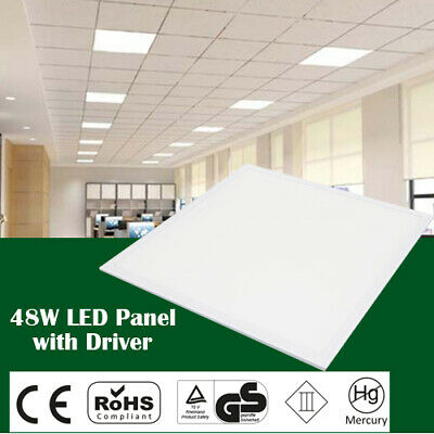LED Panel 48W Recessed Ceiling 600x 600x 9mm -Cool White 6500k with Driver