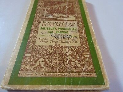 vintage cloth ordnance survey map  of Salisbury Winchester and Reading