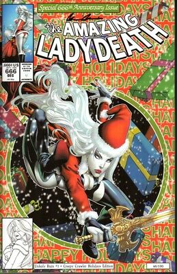 Coffin Comics Lady Death Unholy Ruin #1 Creepy Crawler Holidays # to 150 Signed