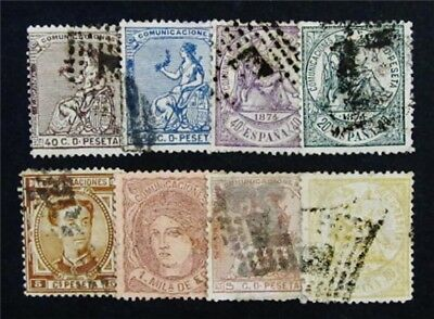 nystamps Spain Stamp # 159 // 222 Used $80