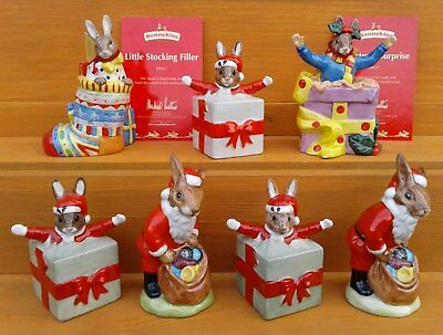 Royal Doulton Christmas Bunnykins Figurines Selection.