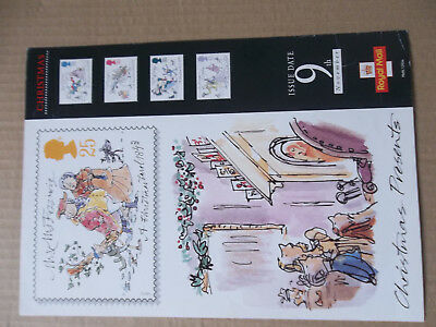 Royal Mail A4 Post Office Poster 1993 Christmas Dickens Carol