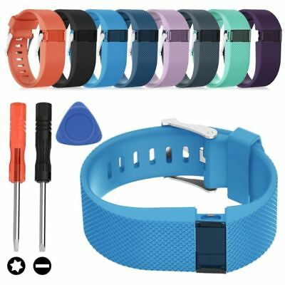Silicone Strap Wristband Replacement Watch Band and Tools for Fitbit Charge HR