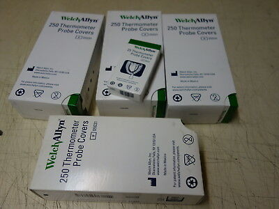 4x Boxes - 1000 pcs WELCH ALLYN  THERMOMETER PROBE COVERS  05031