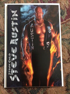 STONE COLD STEVE AUSTIN #1 PREMIUM Edition VARIANT CHAOS! COMIC BOOK WWF WWE NM