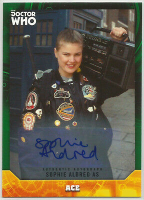 Doctor Who Signature Series 2017 ~ SOPHIE ALDRED Green Autograph Card (#28/50)