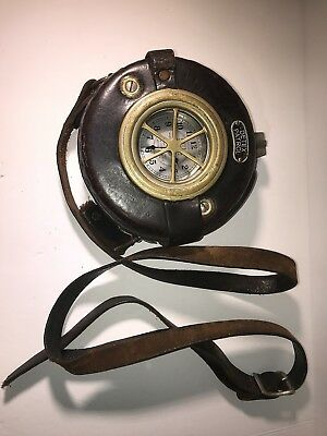 Antique - DETEX Watchman or Jailors Clock with Leather Case Quite old!