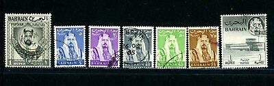 Bahrain Scott # 126, 130, 132, 134, 135, 136, 137 - Used - Nice Stamps