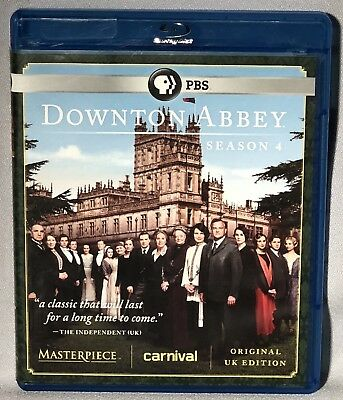 BLU-RAY Downton Abbey Season 4 ( 2014, 3-Disc Set) MINT