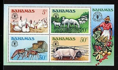 Bahamas Scott #503a MNH S/S World Food Day FAO FAUNA CV$3+