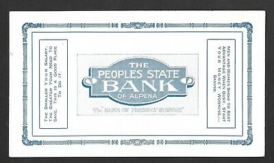 The Peoples State Bank of Alpena - Ink Blotter -  Alpena MI