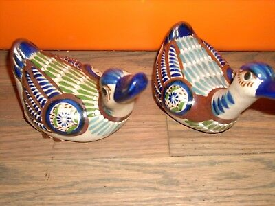 Two ceramic ducks made in mexico