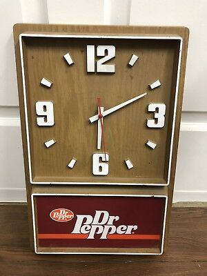 Vintage Dr. Pepper Elcctric Wall Clock