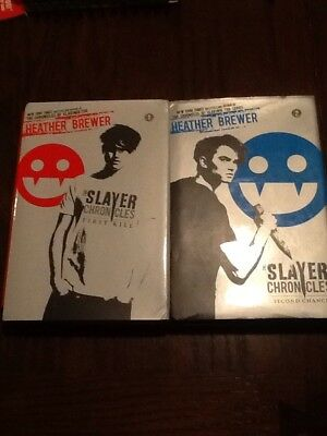 SET LOT The Slayer Chronicles Books 1 & 2 Hardcover (Brewer)