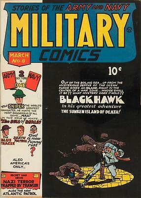Military Comics #8 Photocopy Comic Book, Blackhawk, Death Patrol