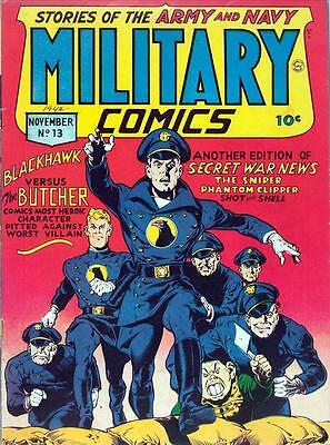 Military Comics #13 Photocopy Comic Book, Blackhawk, The Sniper