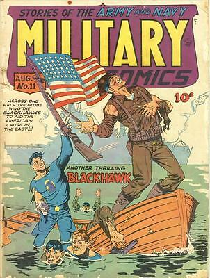 Military Comics #11 Photocopy Comic Book, Blackhawk, The Sniper