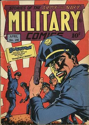 Military Comics #28 Photocopy Comic Book, Blackhawk, Death Patrol