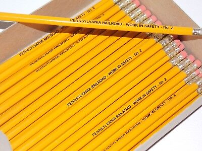 37 Pennsylvania Railroad pencils-- Vintage No.2  Work in Safety!  Gorgeous