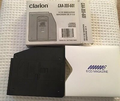 Excellent Clarion 6 CD Holder CAA-355 Compact Disc Player Magazine