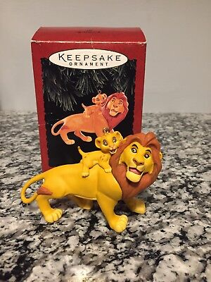 Mufasa and Simba hallmark christmas ornament The Lion King Disney 1994 QX540-6