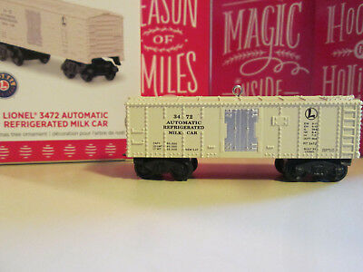 Lionel 3472 Automatic Refrigerated  Milk Car - Die Cast Metal Hallmark 2017