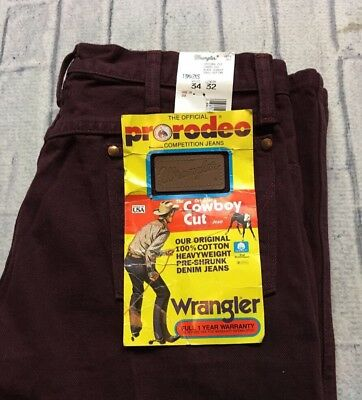 VTG NWT WRANGLER COWBOY CUT 34x32 Made in USA Jeans RODEO Scarlett Straight 80s