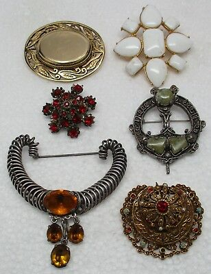 Vintage/Antique Estate Brooch Pin Collection (LOT OF 6) - GORGEOUS, L@@K!