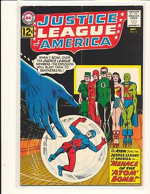 Justice League of America # 14 VG Cond. note stapled in book subscription crease