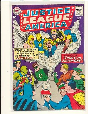 Justice League of America # 21 - Crisis on Earth-One VG+ Cond.