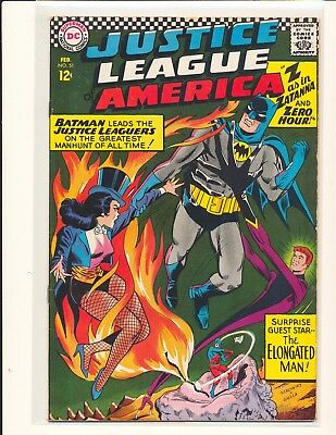 Justice League of America # 51 Good+ Cond. subscription crease centerfold detach